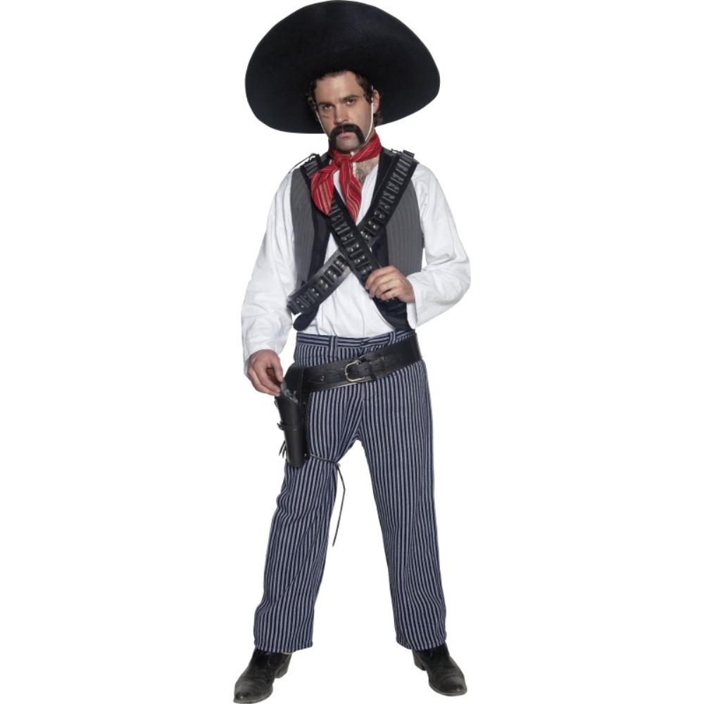 盗賊 衣装、コスチューム メキシコ 大人男性用 Western Mexican Bandit