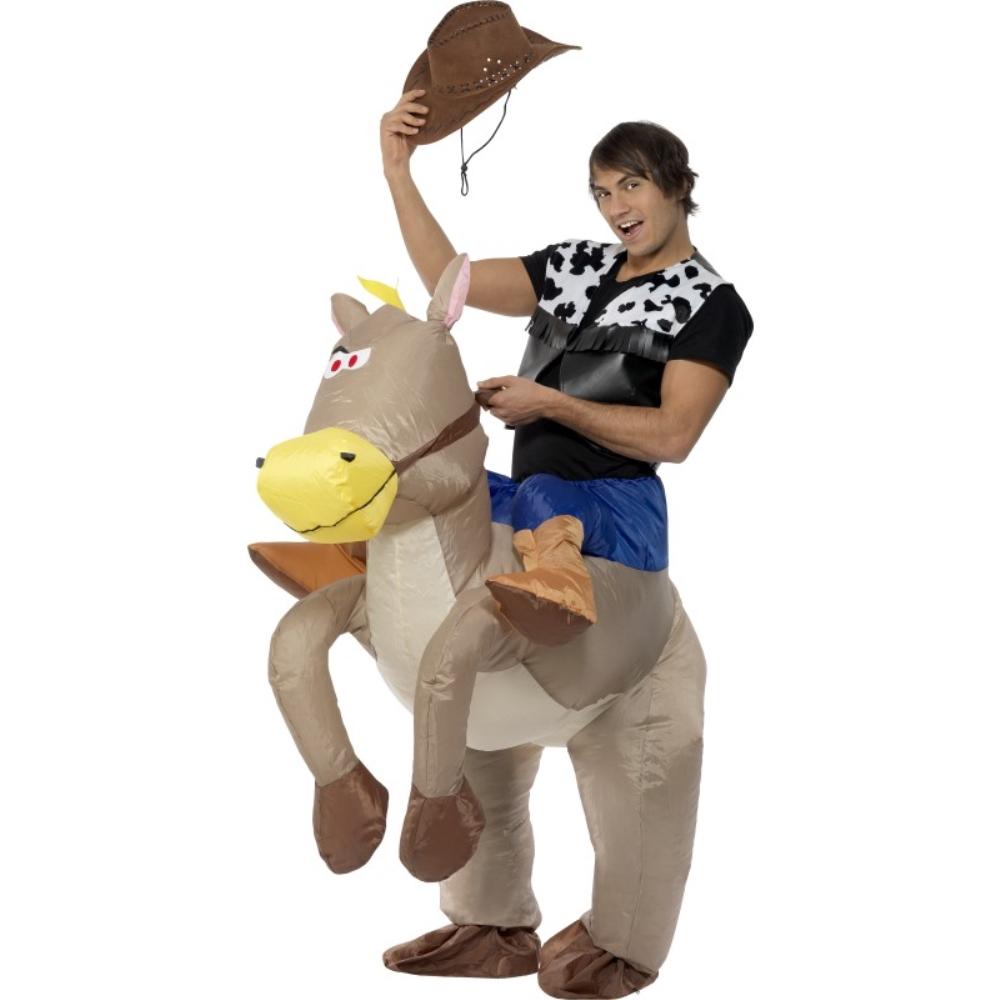 カウボーイ ロデオ 衣装、コスチューム 大人男性用 Ride Em Cowboy Infl atable