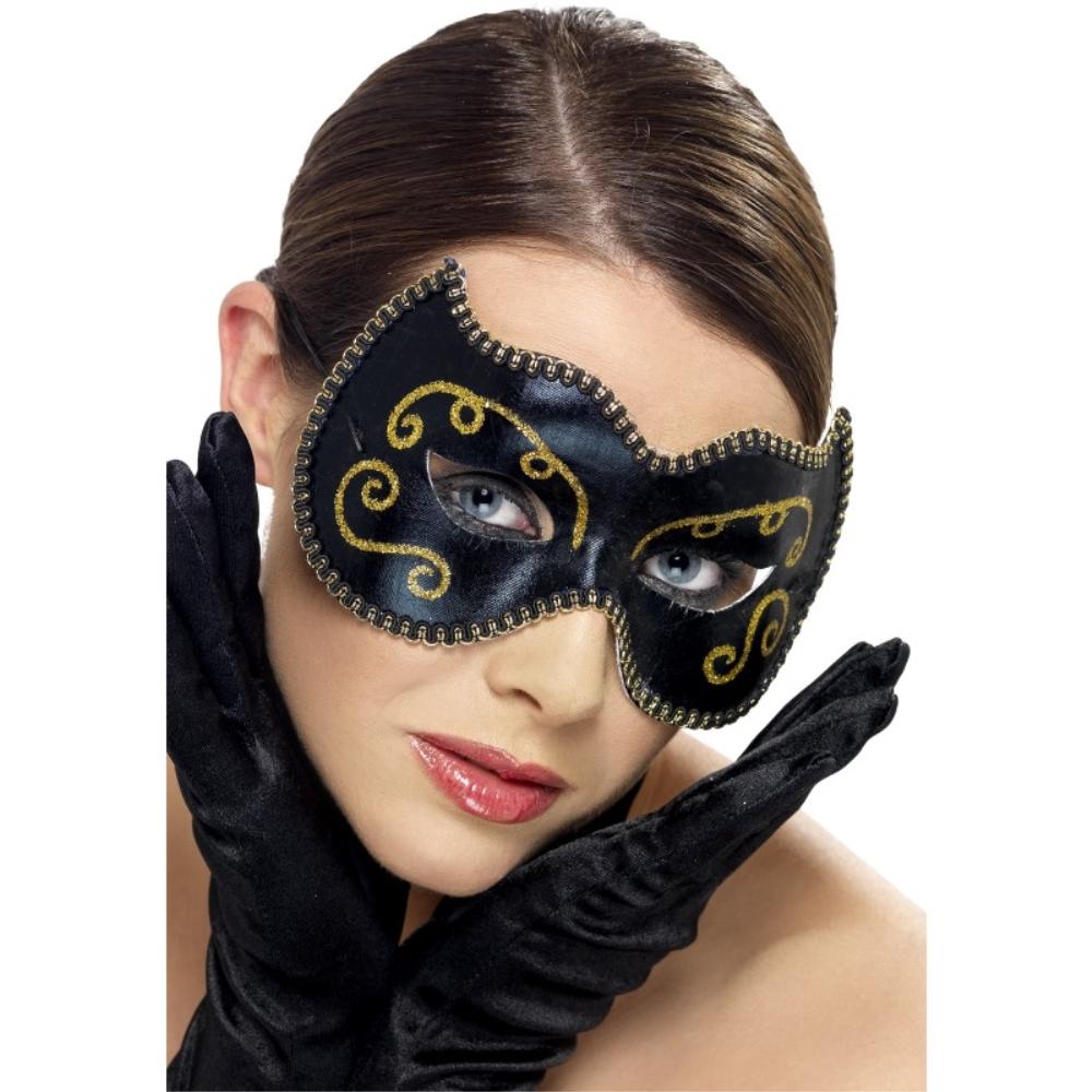 在庫商品は13時までの注文 決済で当日出荷 ※土日祝除く ベネチアンマスク 激安超特価 黒 ペルシャ風 大人女性用 Eyemask パーティー Persian 爆安 コスプレ