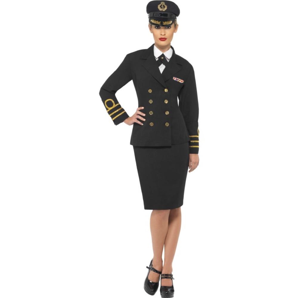 海軍 黒 衣装、コスチューム 大人女性用 Navy Officer コスプレ