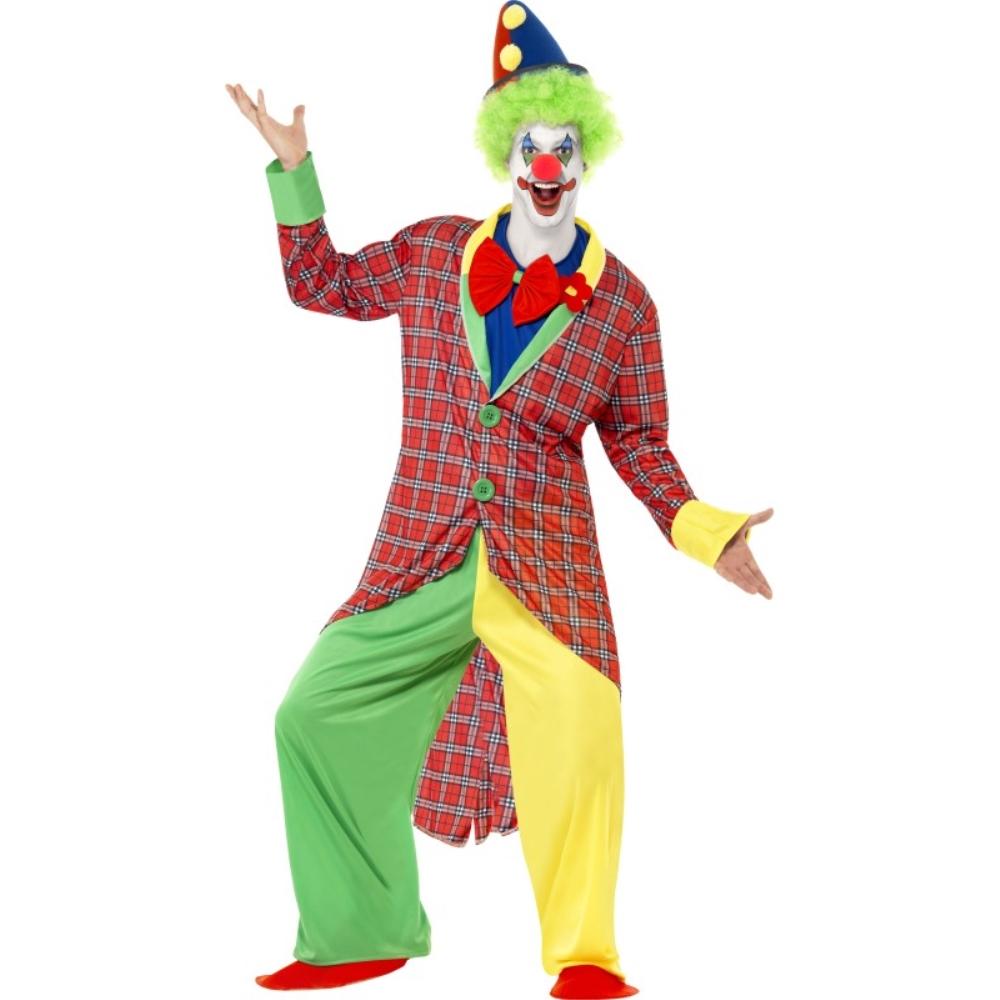 ピエロ サーカス 衣装、コスチューム 大人男性用 La Circus Deluxe Clown