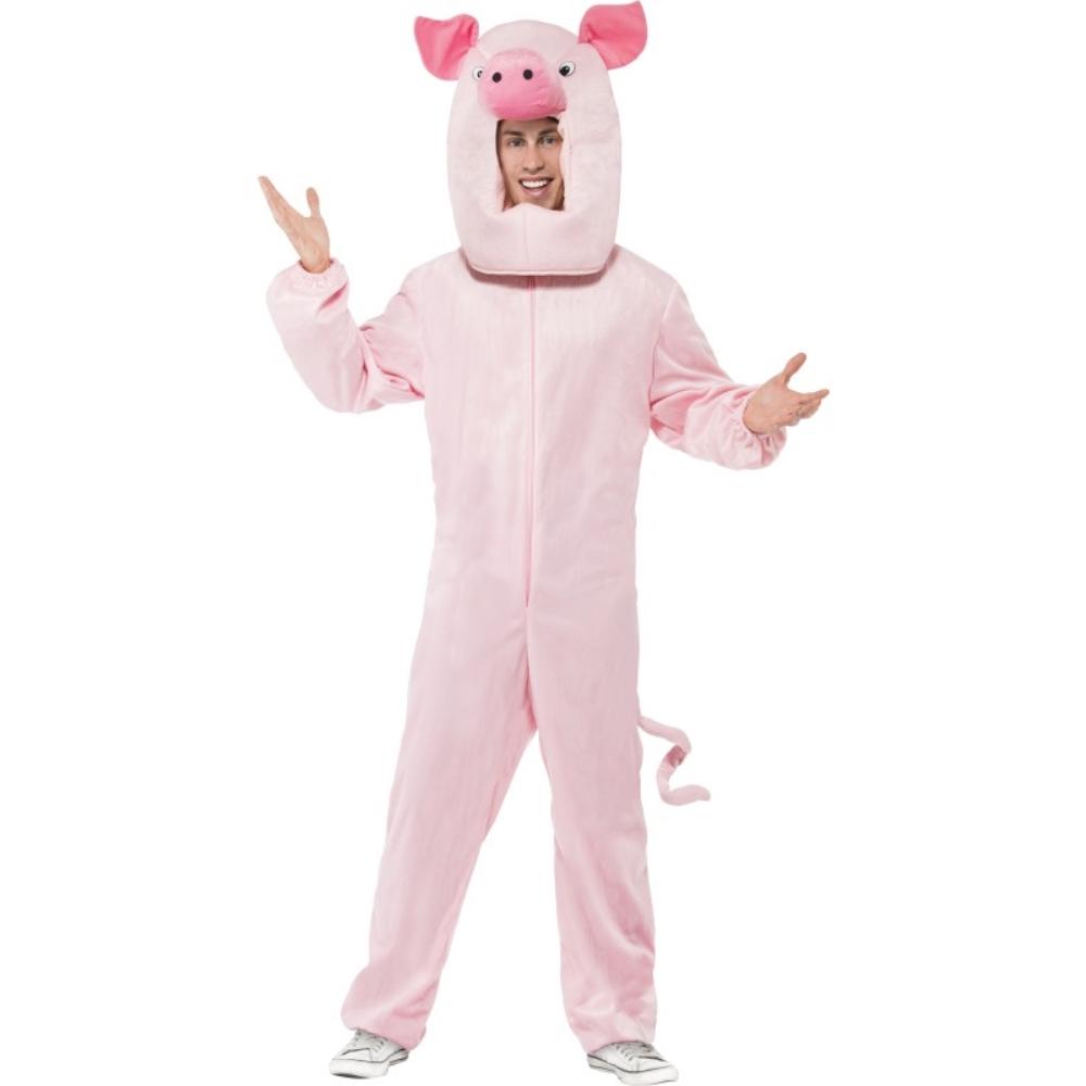 ブタ ボディースーツ 衣装、コスチューム 大人男性用 Pig