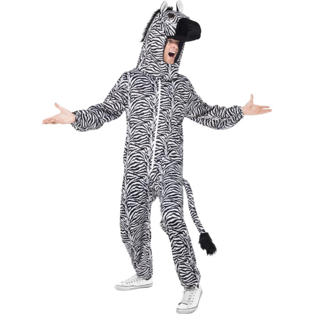 シマウマ ボディースーツ 衣装、コスチューム 大人男性用 Zebra
