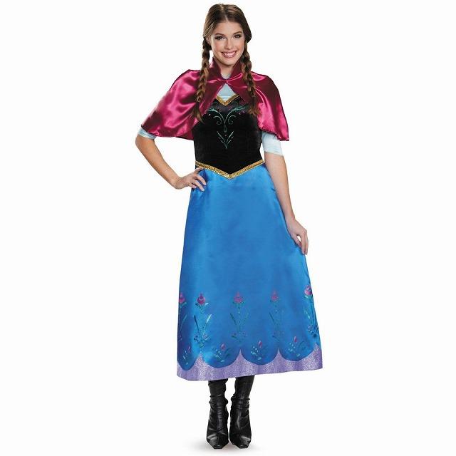 アナ アナと雪の女王 衣装、コスチューム 大人女性用 Deluxe コスプレ