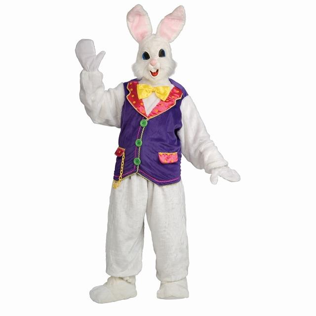 ウサギ 衣装、コスチューム 大人男性用 動物 着ぐるみ BUNNY ADULT DELUXE W VEST