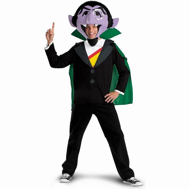 カウントダウン伯爵 衣装、コスチューム 大人男性用 セサミストリート Sesame Street The Count コスプレ