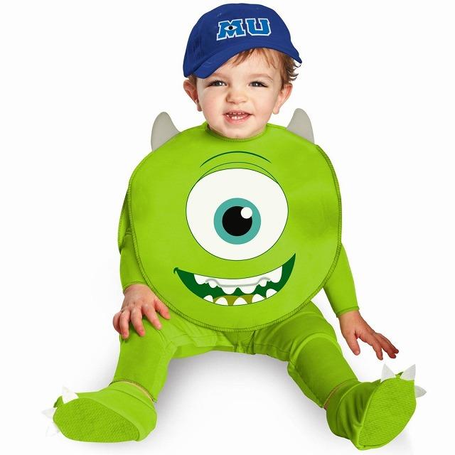 マイク 衣装、コスチューム ベビー用 ディズニー モンスターズインク Monsters U Mike コスプレ