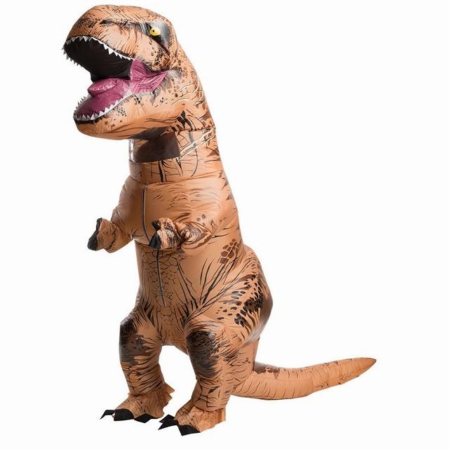 恐竜 コスチューム ティラノサウルス 着ぐるみ ジュラシックワールド 大人用 空気で膨らむ T-REX