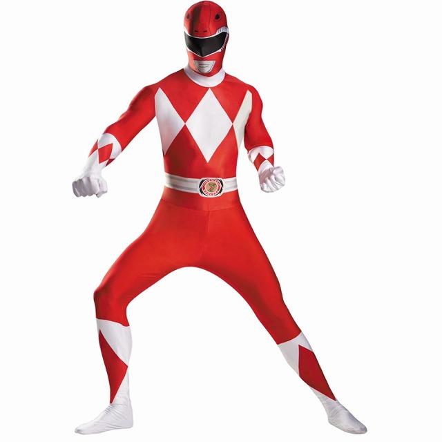 パワーレンジャー 衣装、コスチューム 大人男性用 レッド 戦隊 RED RANGER