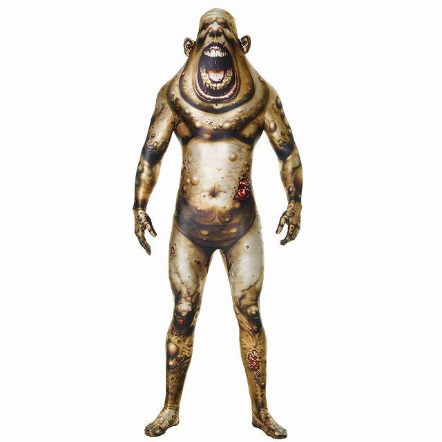 ゾンビ 衣装、コスチューム 大人男性用 ホラー 全身タイツ MORPH BOIL MONSTER