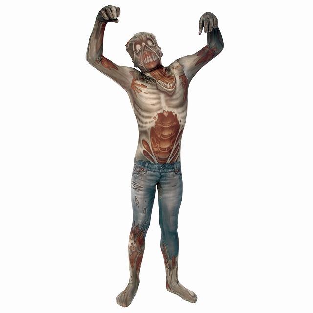 ゾンビ 衣装、コスチューム 大人男性用 ホラー 全身タイツ MORPH ZOMBIE ADULT