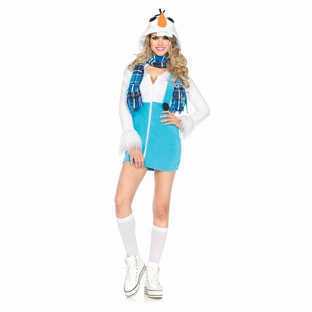 アナと雪の女王風 オラフ風 大人女性用コスチューム Cozy Snowman コスプレ
