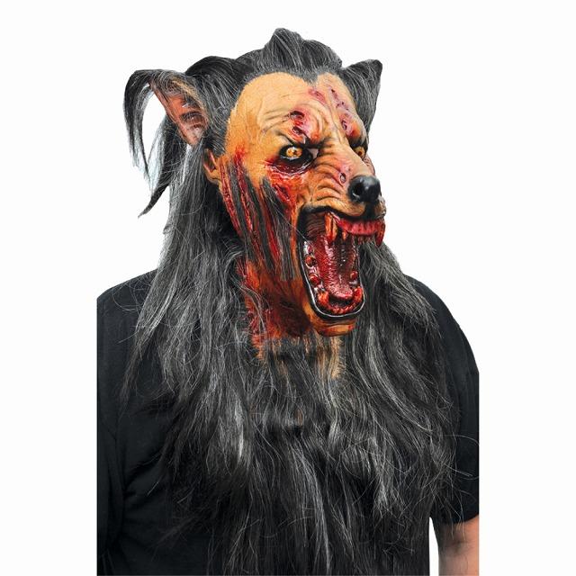 ホラーマスク WOLF 狼 血まみれの口 BROWN ホラーマスク BROWN WOLF, スポーツダイアリー:711c60a5 --- officewill.xsrv.jp