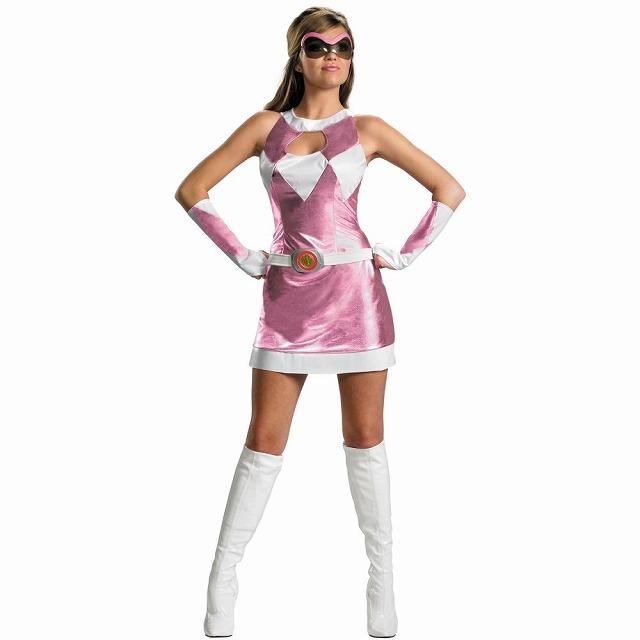 マイティモーフィンパワーレンジャー ピンクレンジャー 衣装、コスチューム大人女性用