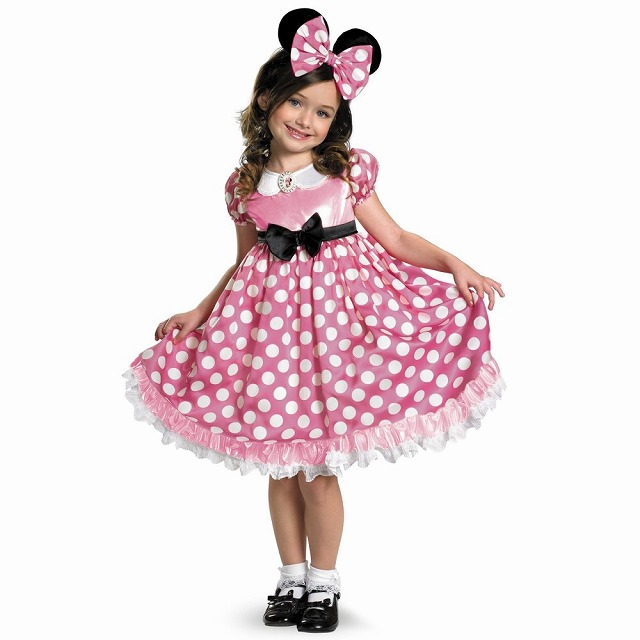 ミニーマウス ディズニー 衣装、コスチューム 暗闇で光る 子供女性用 Minnie Mouse