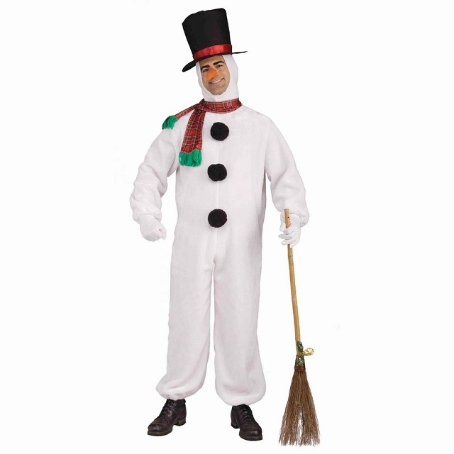 スノーマン 雪だるま 衣装、コスチューム 大人男性用 Plush Snowman