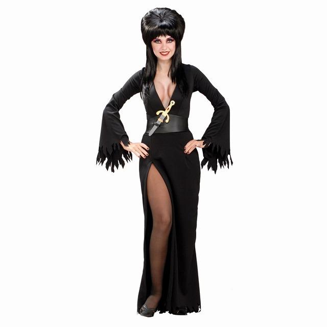 エルビラ 衣装、コスチューム セクシー 大人女性用 ホラードラマ
