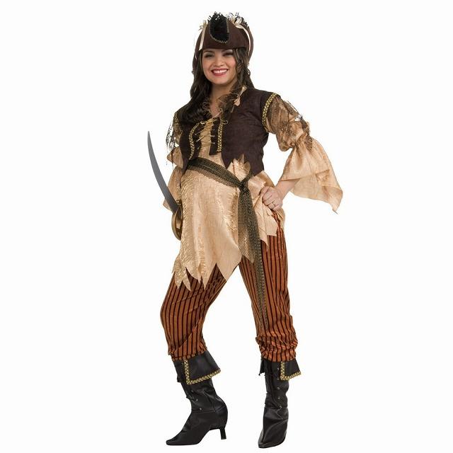 海賊 マミー・パイレーツ・クイーン 衣装、コスチューム 大人女性用