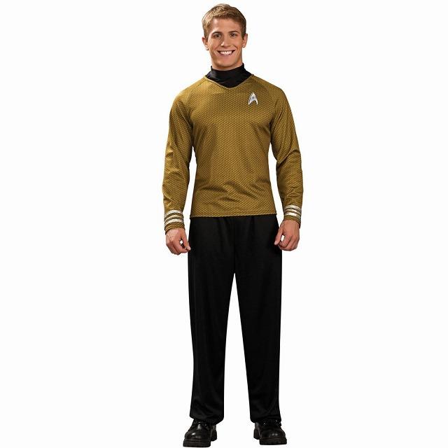 スター・トレック・ゴールド・シャツ 衣装、コスチューム デラックス 大人男性用