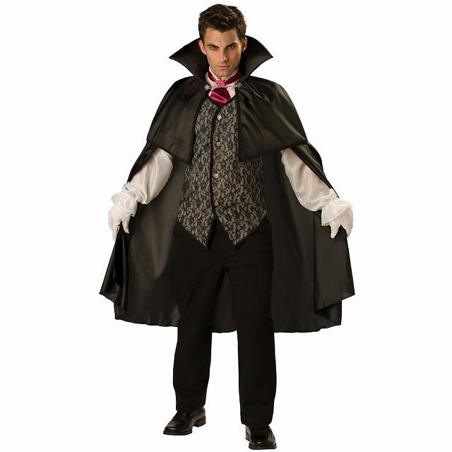 ミッドナイト・ヴァンパイア 衣装、コスチューム 大人男性用