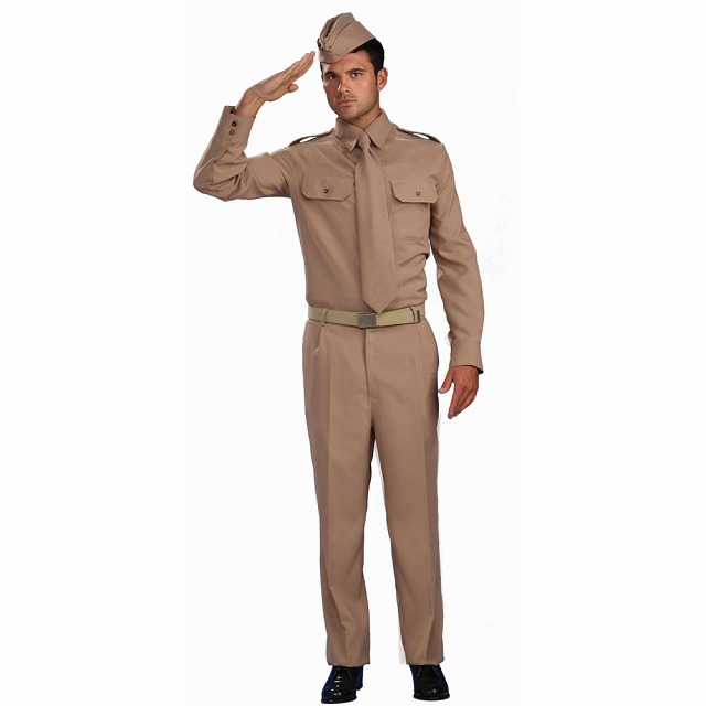 第二次世界大戦時代の兵卒 衣装、コスチューム 大人男性用