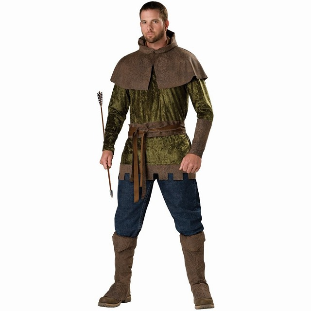 ロビン・フッド 衣装、コスチューム デラックス 大人男性用