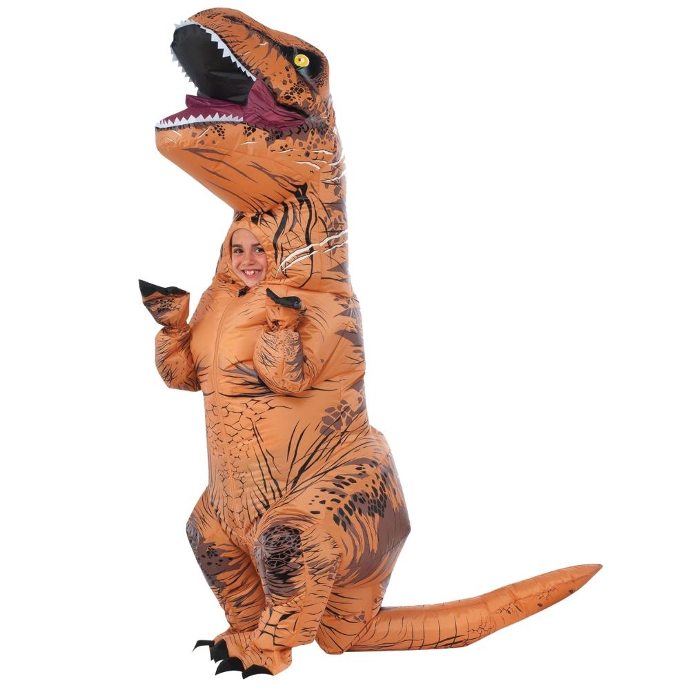 T-REX 恐竜 コスチューム 子供男性用 膨らまし着ぐるみ ティラノサウルス コスプレ
