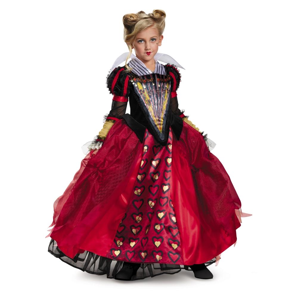 赤の女王 衣装、コスチューム 子供女性用 Deluxe アリス・イン・ワンダーランド ディズニー ハロウィン