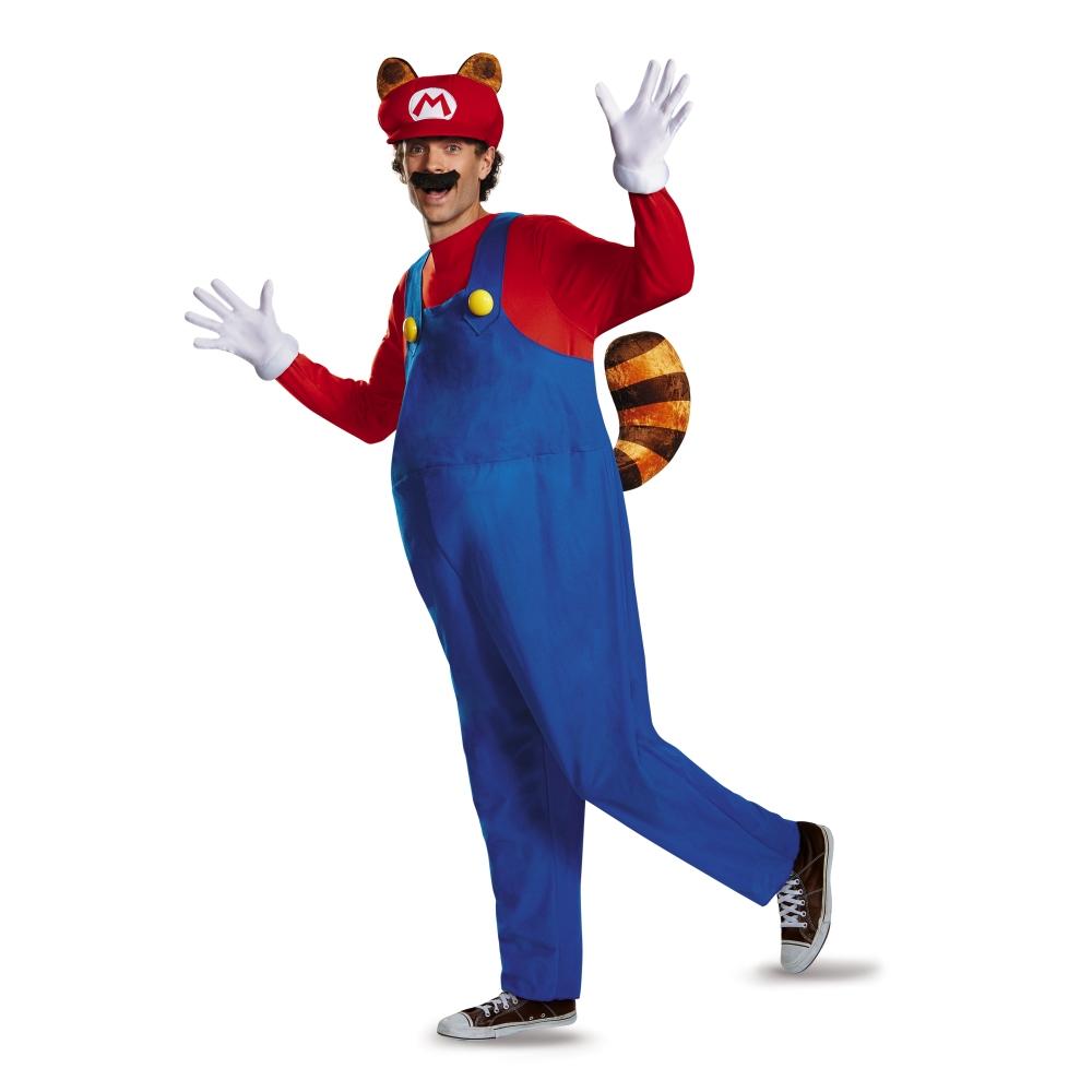 しっぽマリオ 衣装、コスチューム 大人男性用 Deluxe スーパーマリオ ハロウィン