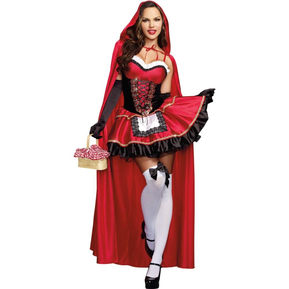赤ずきんちゃん 大人女性用コスチューム コスプレ ハロウィン LITTLE RED