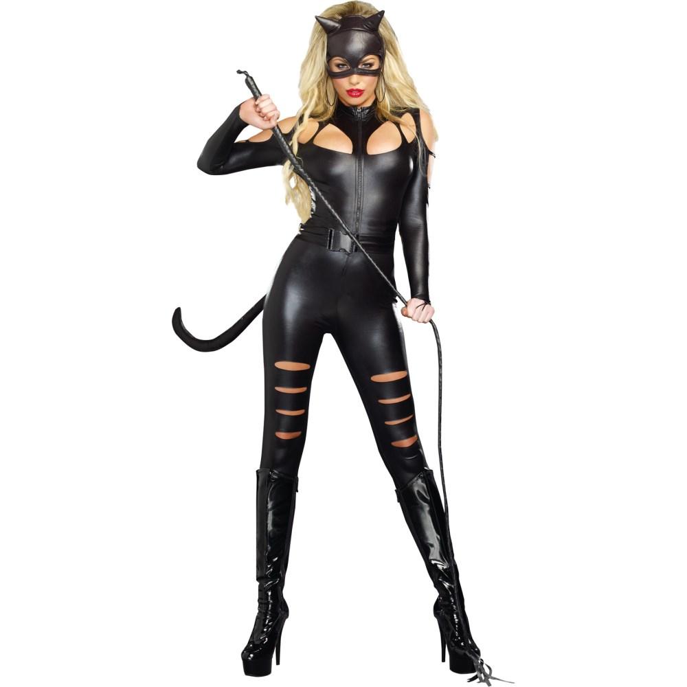 キャットウーマン 大人女性用コスチューム コスプレ ハロウィン CAT FIGHT