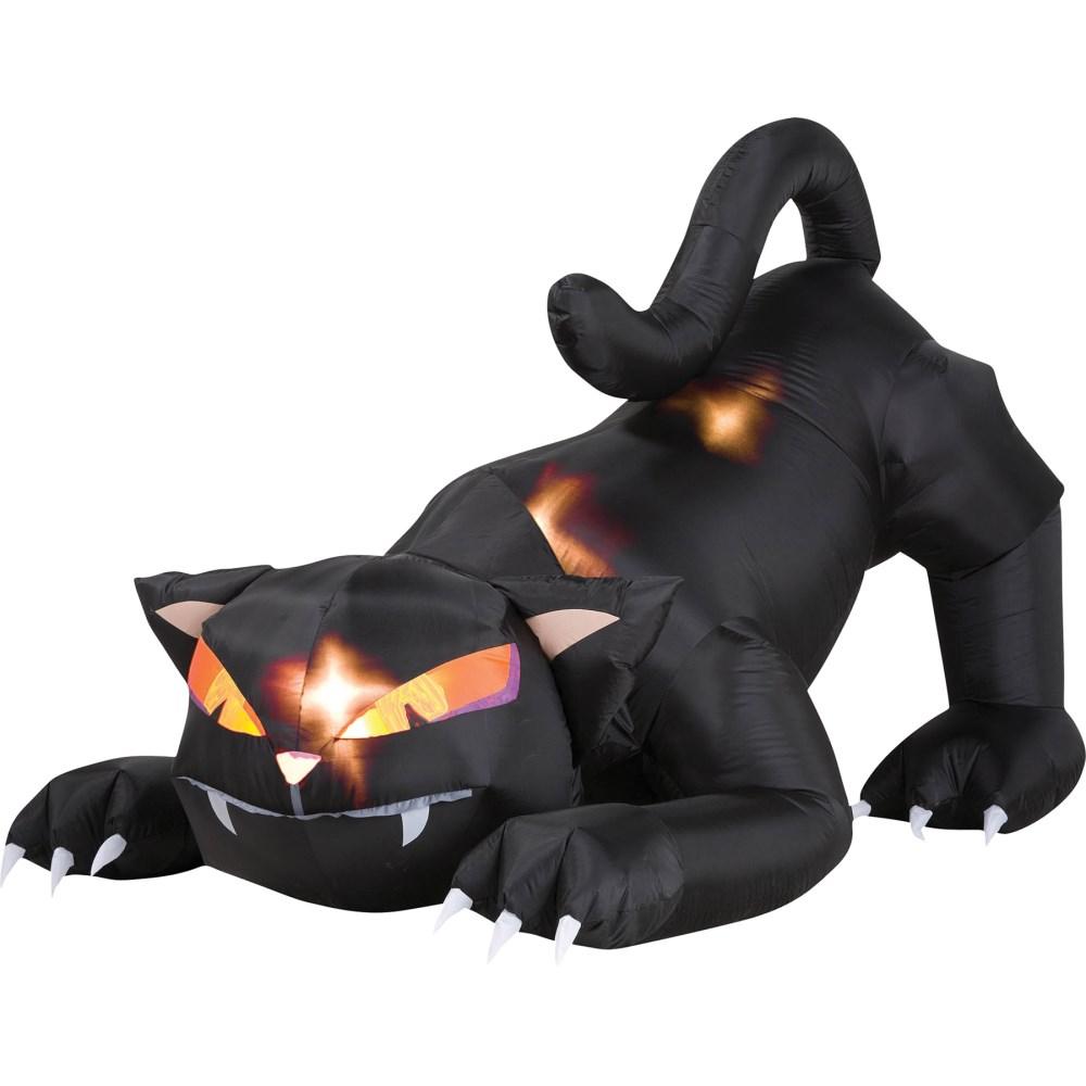 黒猫 エアバルーン ハロウィンデコレーション 動く 光る