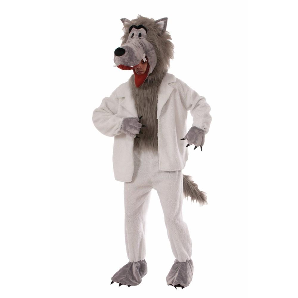 羊の皮をかぶったオオカミ 大人男性用 着ぐるみ マスコット