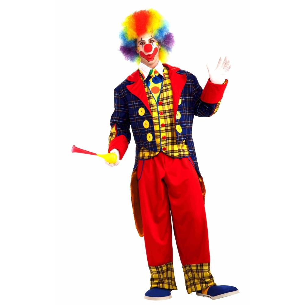 ピエロ チェック柄テイルコート コスチューム 大人男性用 Checkers The Clown