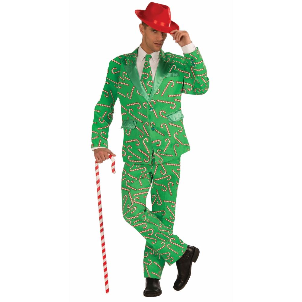 キャンディケーン柄スーツ コスチューム 大人男性用 クリスマス Candy Cane Suit コスプレ
