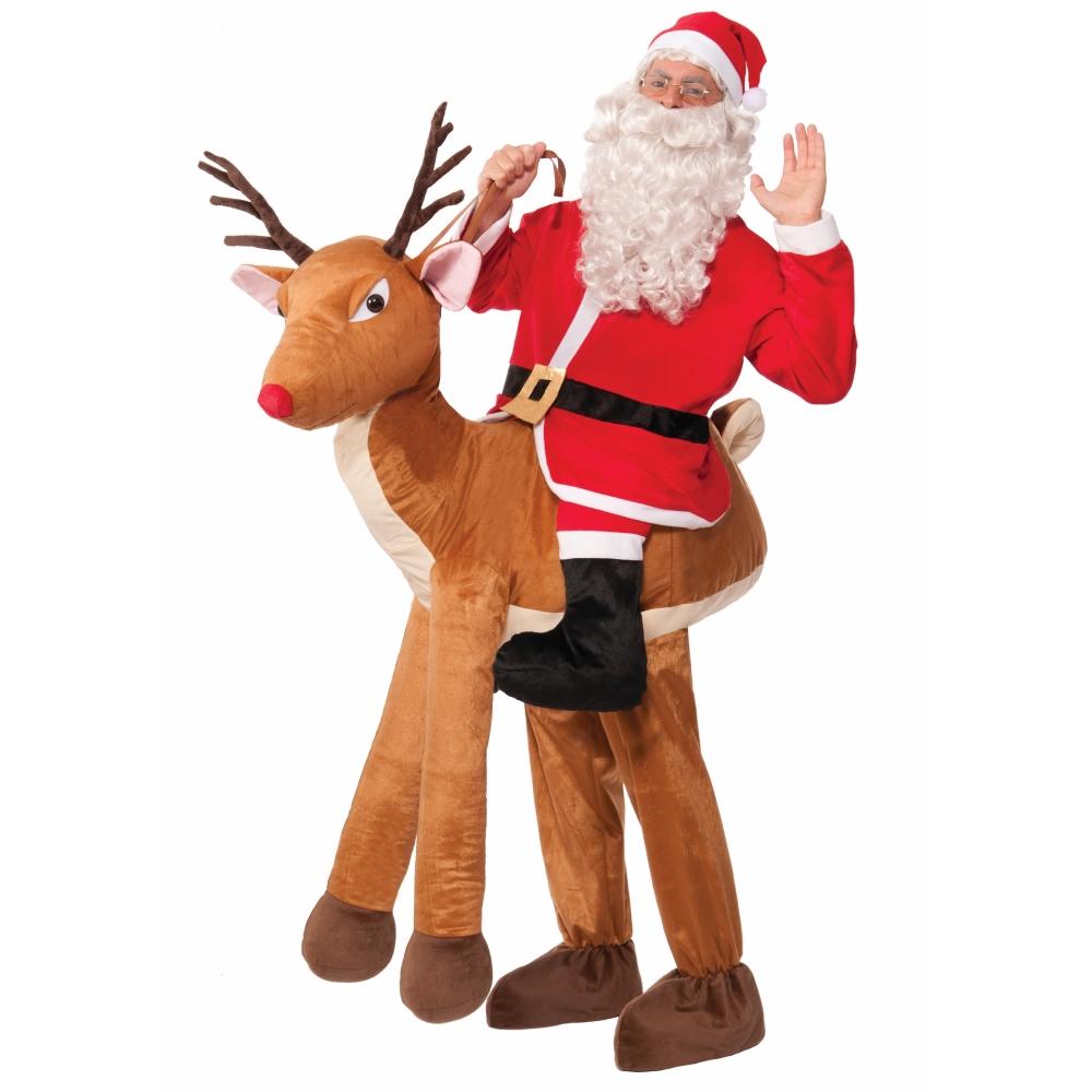 サンタクロース トナカイ乗り コスチューム 大人男性用 Santa Ride-a-reindeer