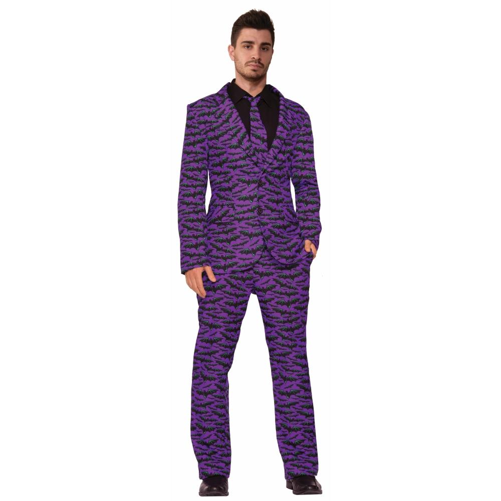 こうもり柄スーツ コスチューム 大人男性用 ハロウィン Bat Suit And Me
