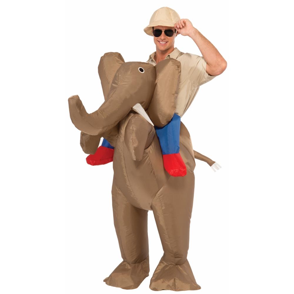 象乗り サファリ コスチューム 大人男女兼用 Inflatable Ride An Elephant