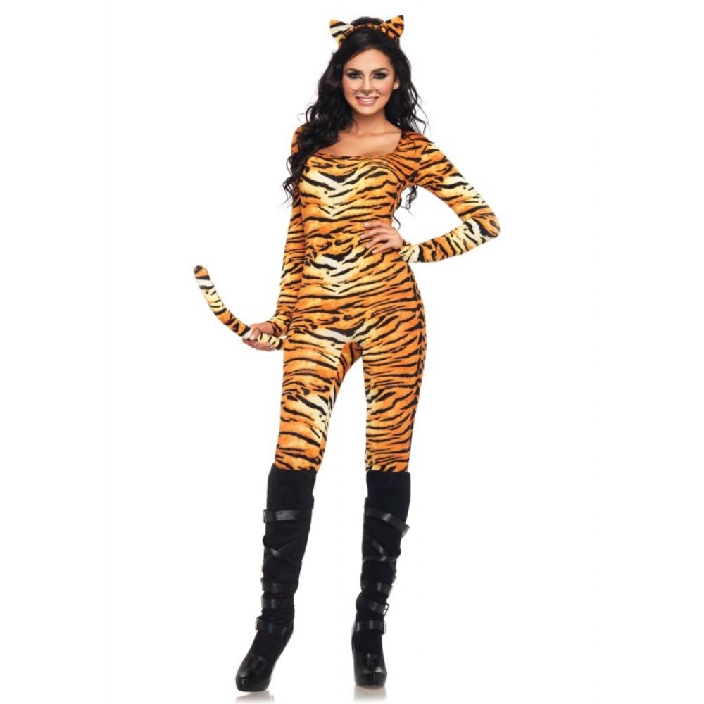 キャットスーツ・タイガー コスチューム 大人女性用 2 PC. Wild Tigress