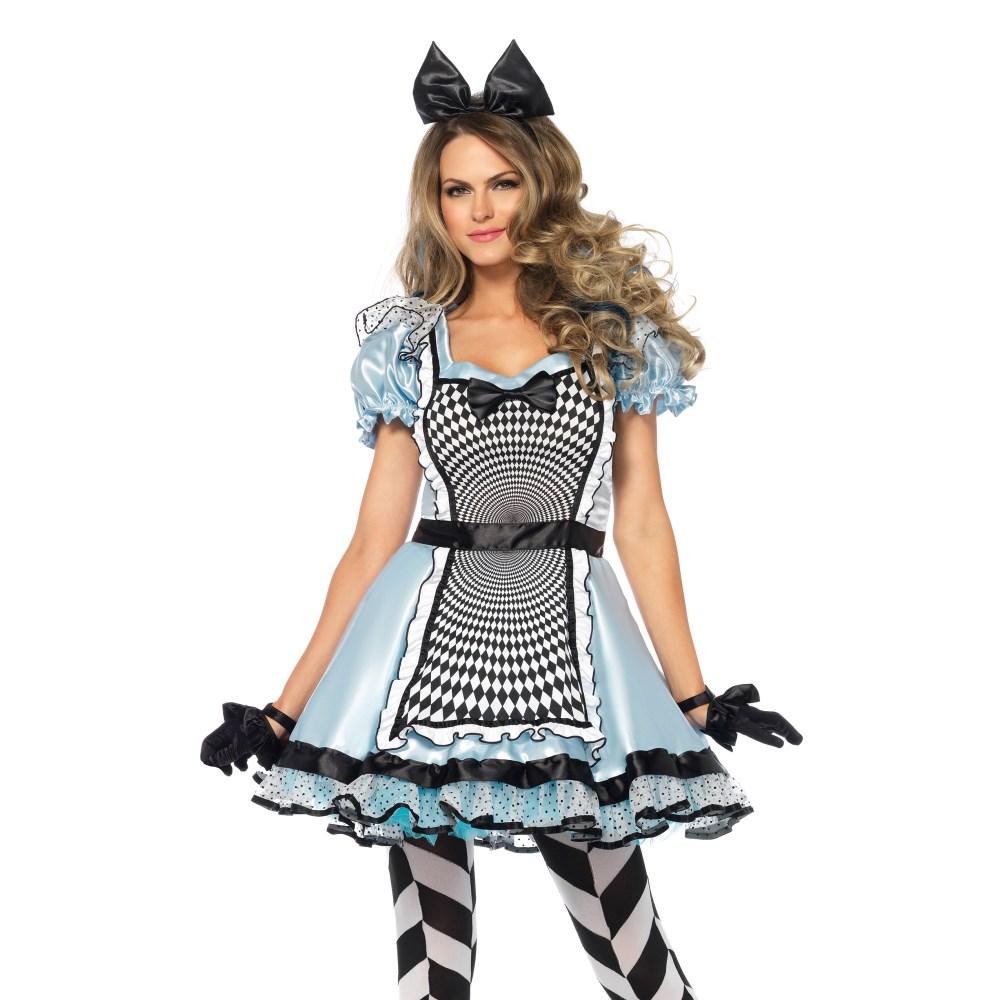 アリス コスチューム 「不思議の国のアリス」 大人女性用 2 PC. Hypnotic Miss Alice コスプレ