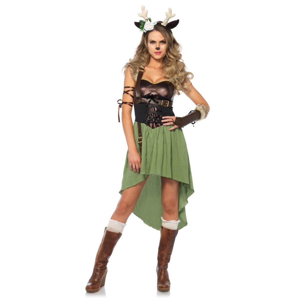 子鹿 衣装、コスチューム 大人女性用 4 PC. Dark Forest Fawn コスプレ