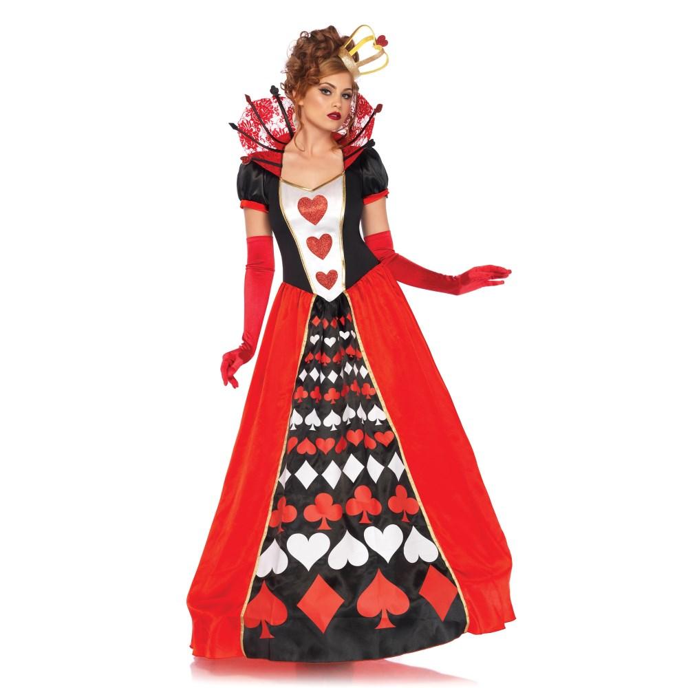 赤の女王 コスチューム 「不思議の国のアリス」 大人女性用 ハートの女王 2 PC. Deluxe Queen of Hearts コスプレ