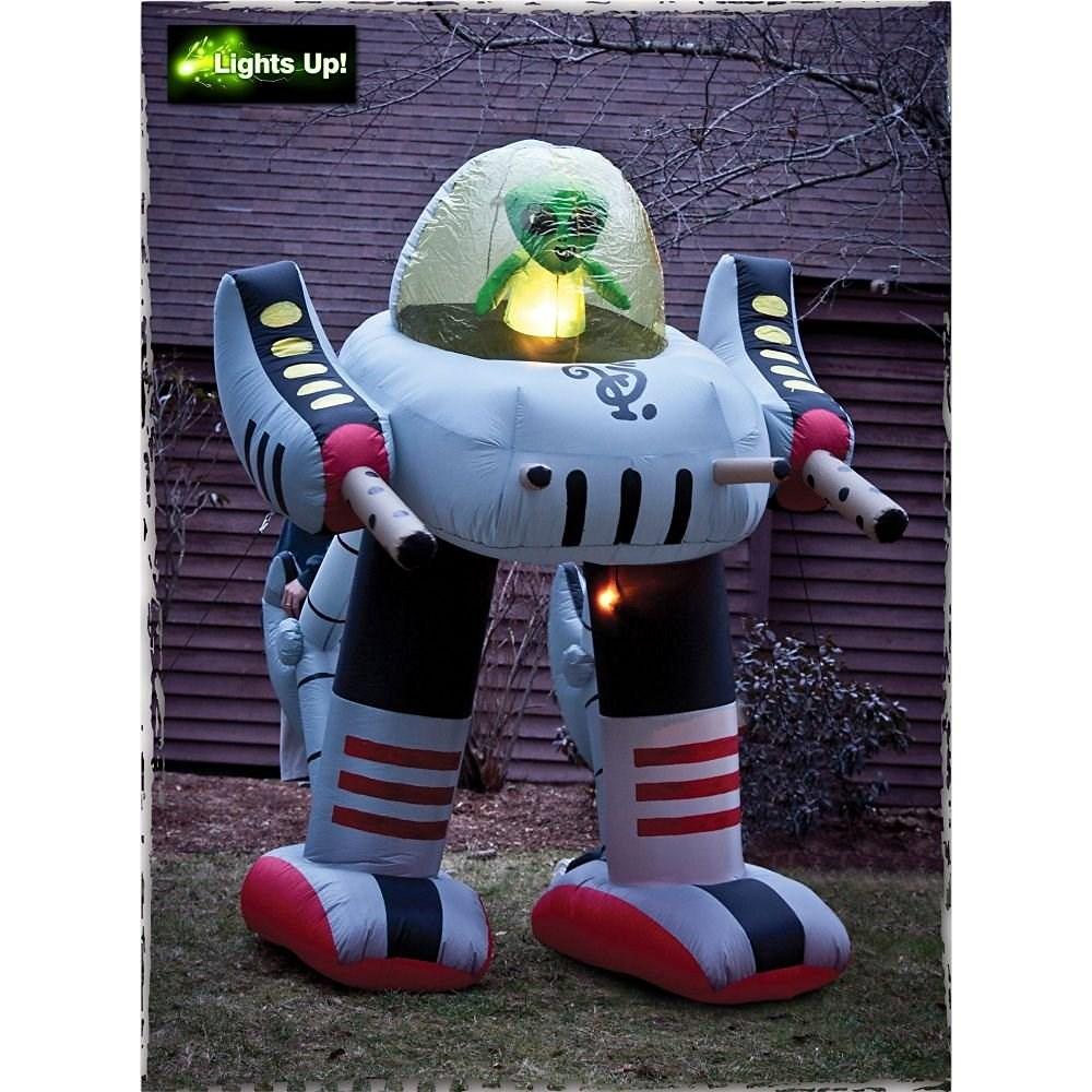 エイリアン ロボット エアバルーン ライトアップ