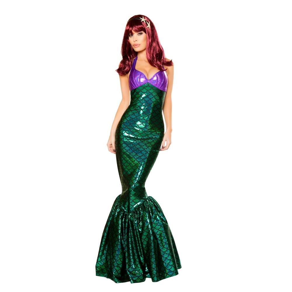 人魚姫 衣装、コスチュ―ム 大人女性用 マーメイド グリーン