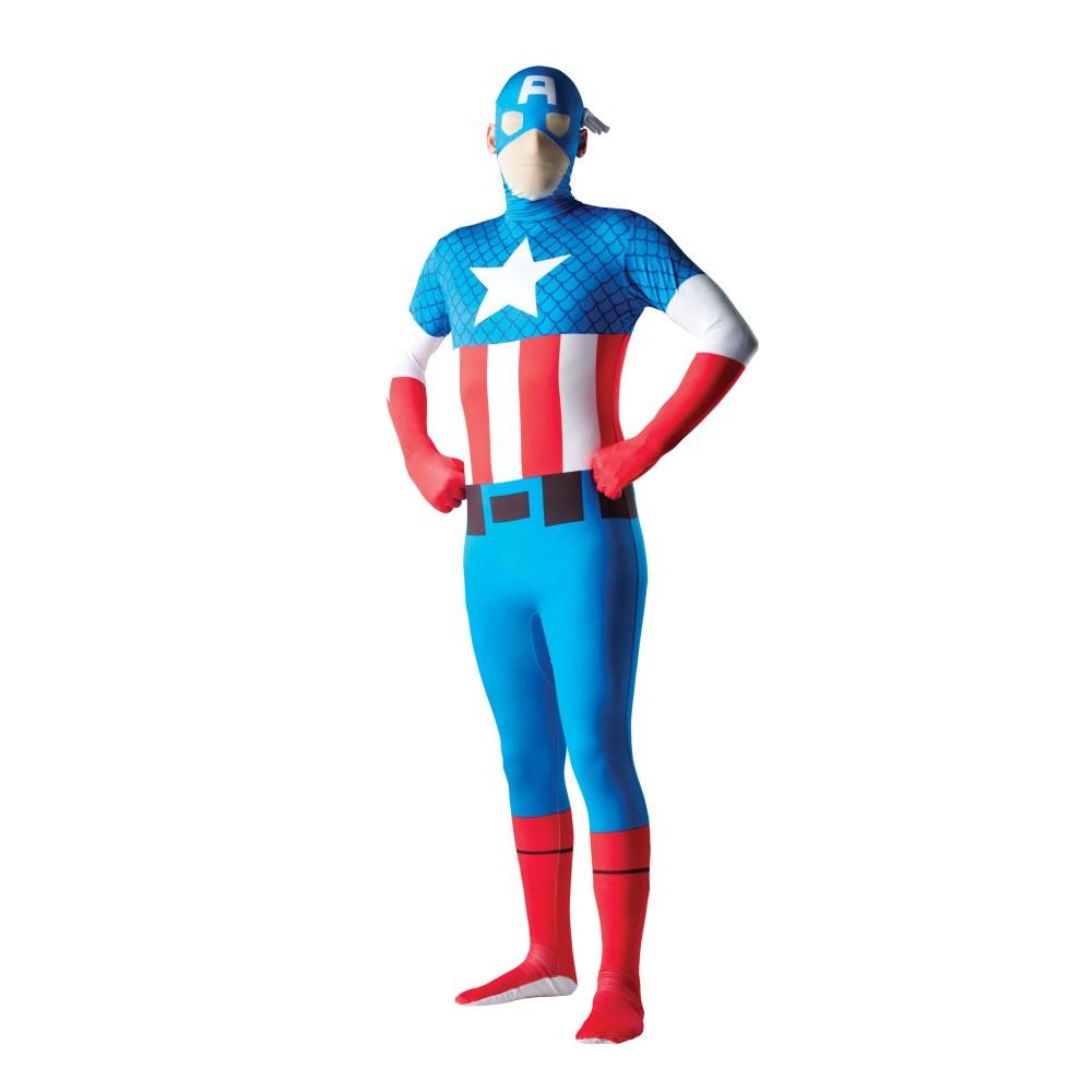 キャプテン・アメリカ スキンスーツ 衣装、コスチューム 大人男性用