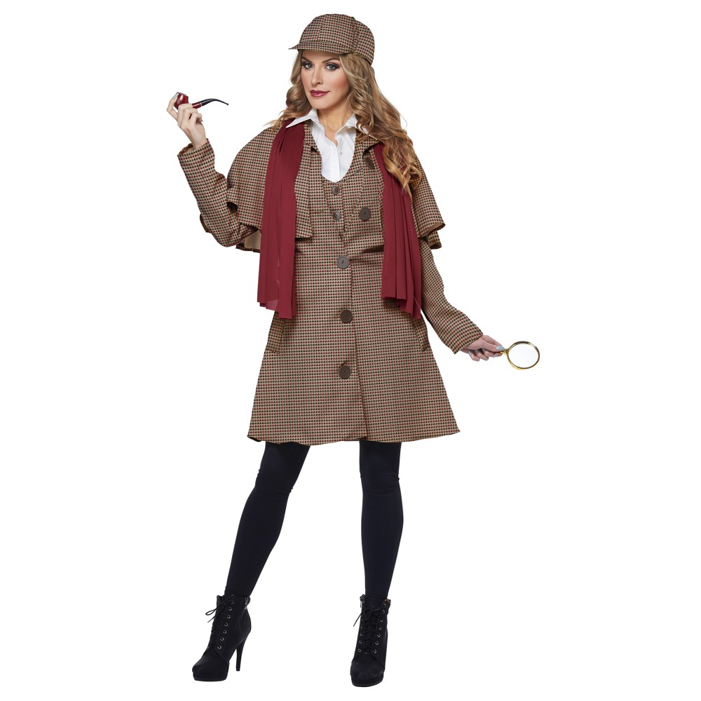 シャーロックホームズ 衣装、コスチューム LADY 大人女性用 探偵 探偵 LADY SHERLOCK 大人女性用/ADULT, バイクショップ ハンター:753deecb --- officewill.xsrv.jp