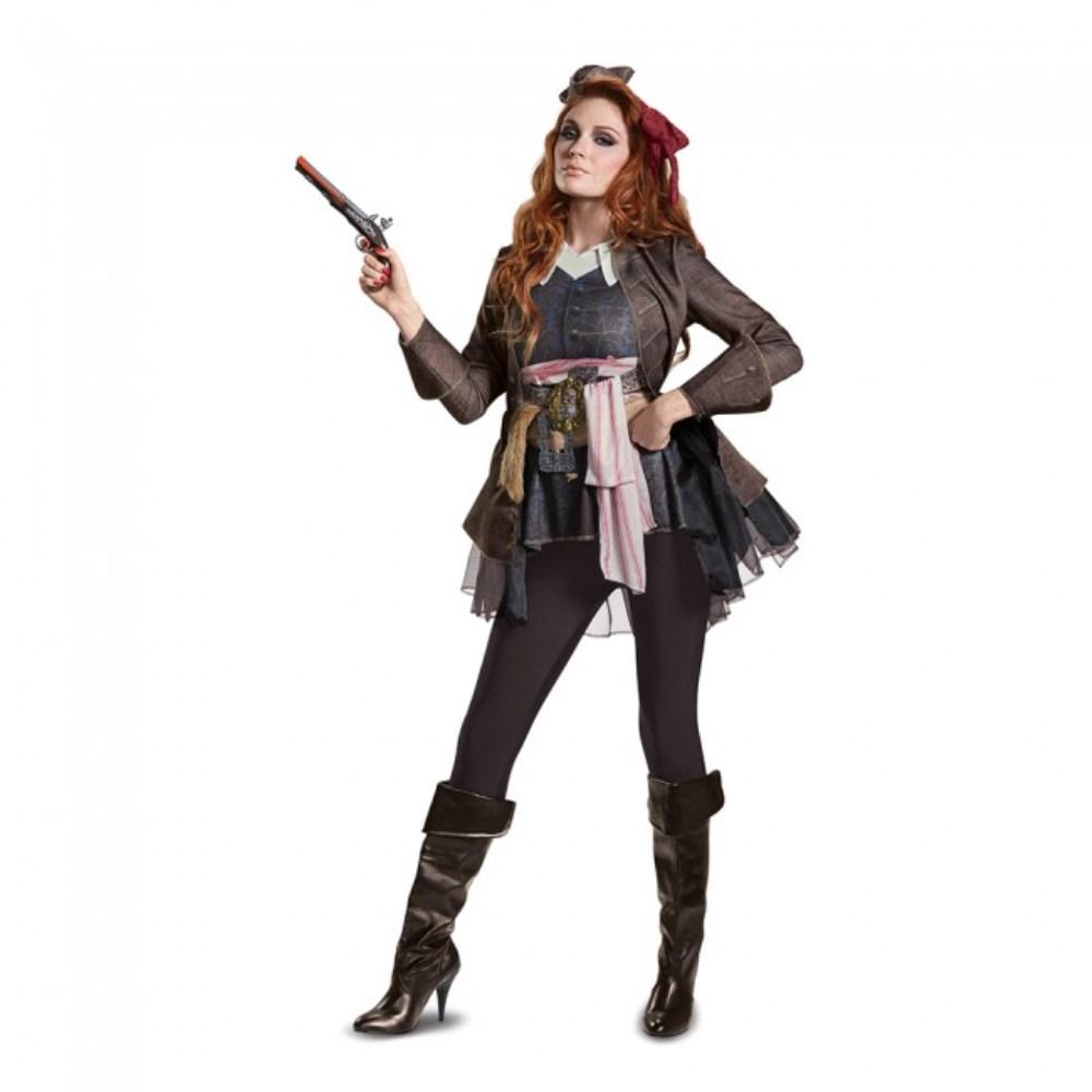 ジャック・スパロウ Deluxe 「パイレーツ・オブ・カリビアン/最後の海賊」 衣装、コスチューム 大人女性用 Potc5 Captain Jack Female Deluxe Adult