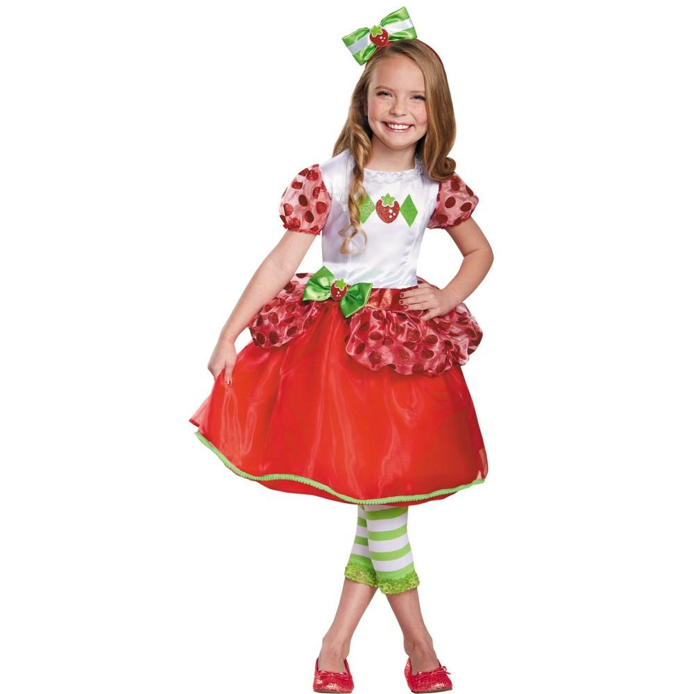 ストロベリー・ショートケーキ イチゴ 衣装、コスチューム 子供女性用 STRAWBERRY SHORTCAKE DELUX コスプレ