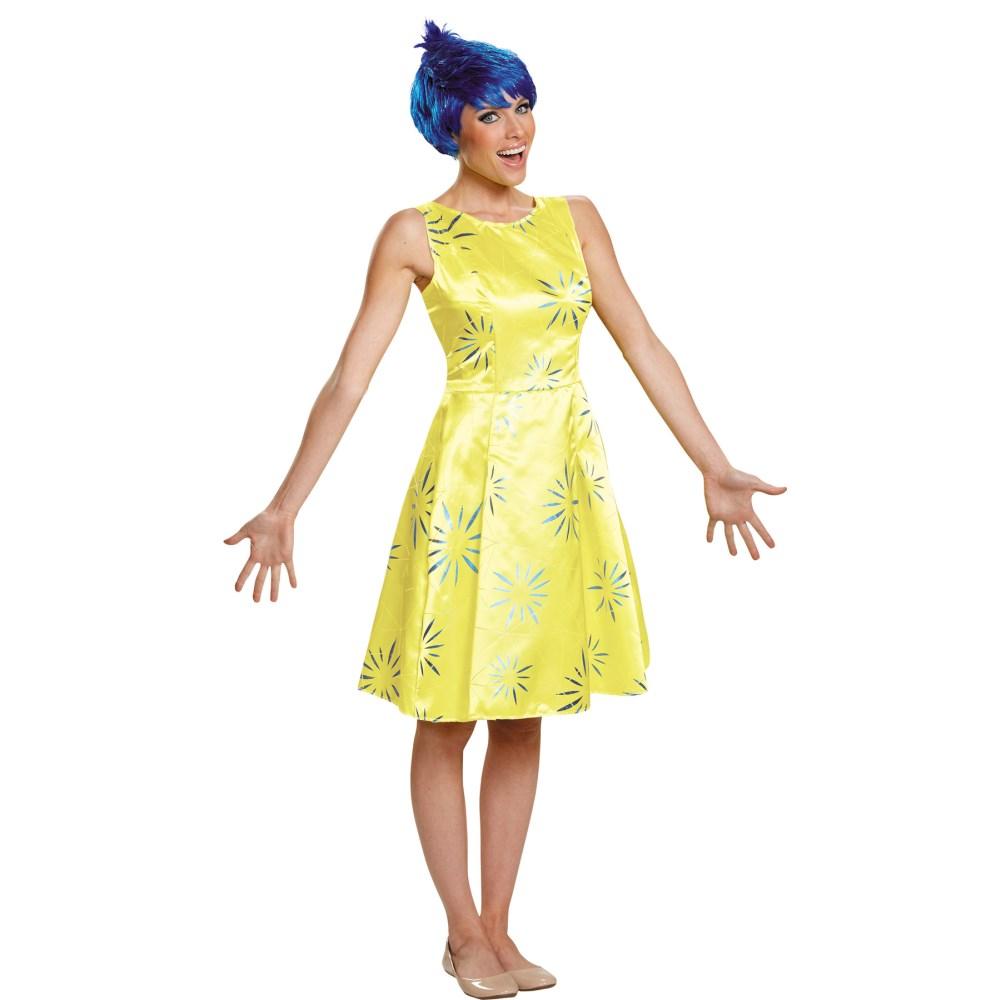 ヨロコビ インサイド・ヘッド 大人女性用 衣装、コスチューム コスプレ JOY DELUXE ADULT