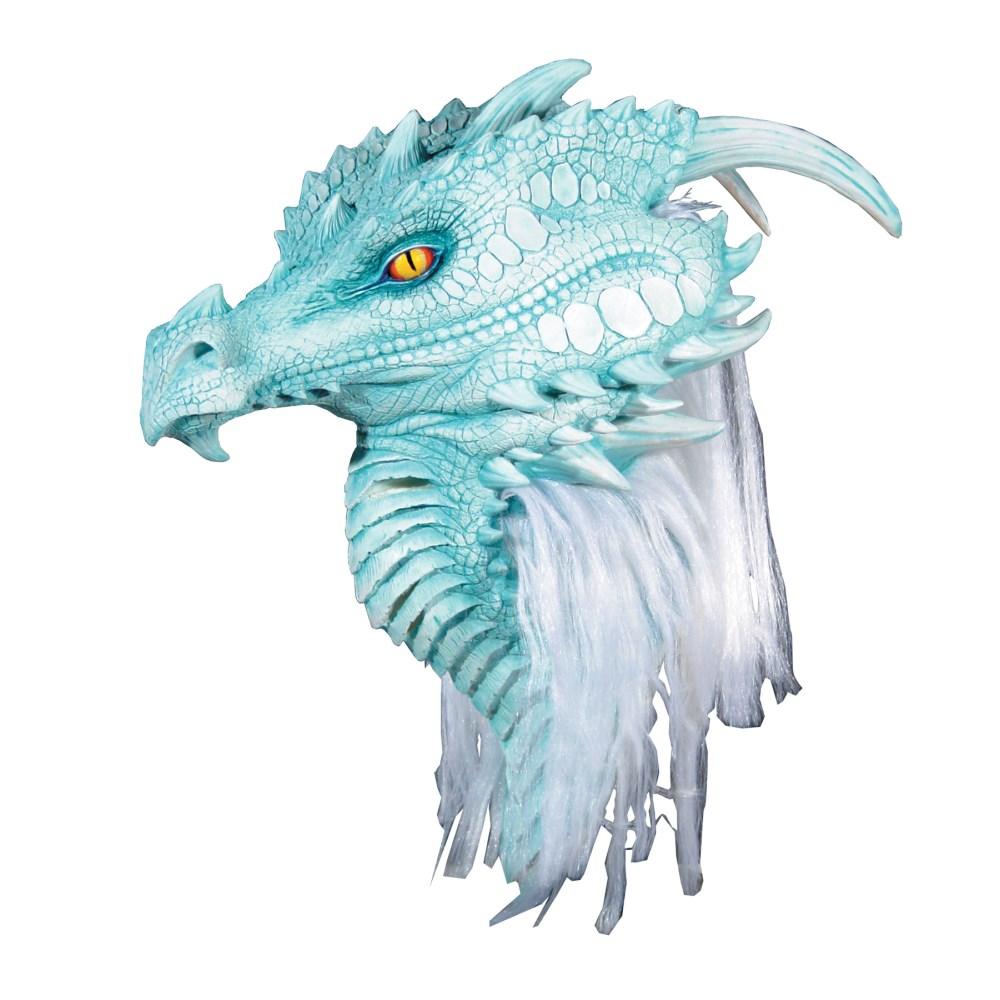 ドラゴン 龍 マスク マスク 大人用 ホワイト/ブルー たてがみ付き DRAGON ARCTIC DRAGON ホワイト/ブルー PREMIERE MASK, KIDS-STYLE ホアシ:6d7b8b84 --- officewill.xsrv.jp